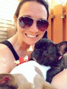 Brain tumor caregiver, Amanda and puppy
